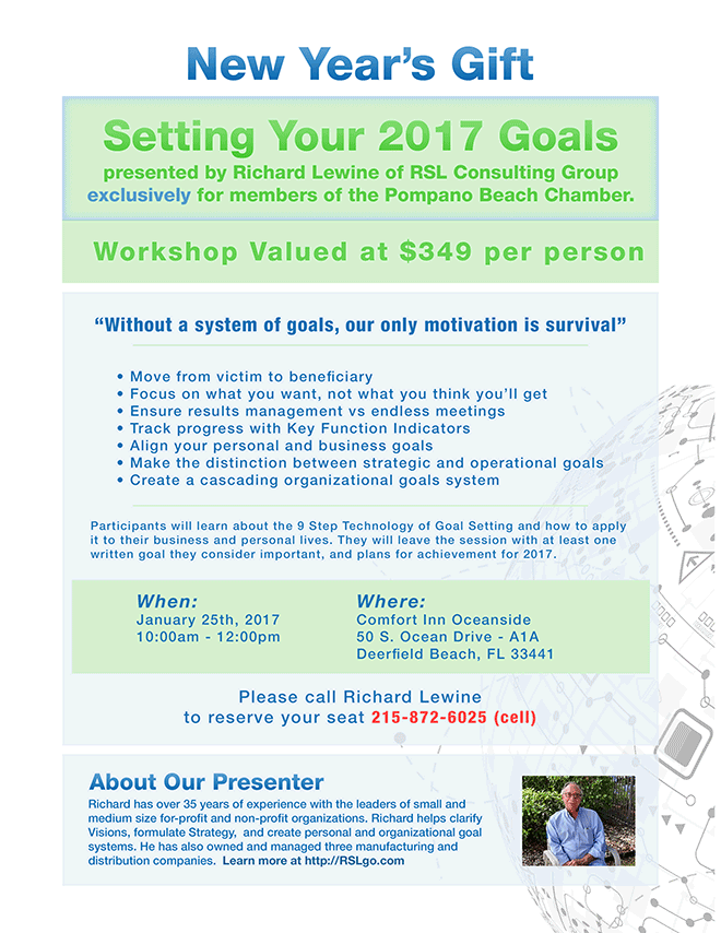 FREE workshop for Pompano Beach Chamber of Commerce members