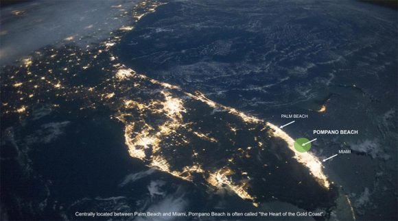 South Florida at night, from space