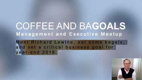 coffee and bagoals with richard lewine pompano beach south florida