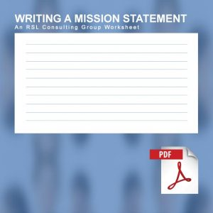 writing a mission statement worksheet